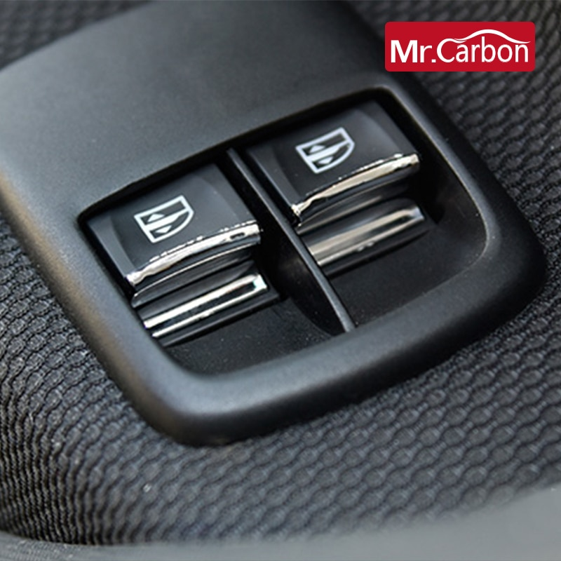 Para Mercedes Smart fortwo 453, botón de Control de elevalunas para coche, pegatina para decoración Interior, accesorios de decoración para coche