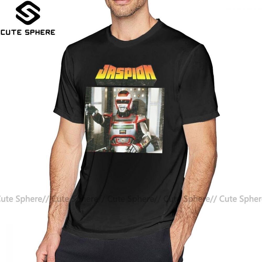 Camiseta Jaspion, camiseta Jaspion, camiseta de gran tamaño con estampado, camiseta para hombre 100, ropa informal de algodón, camisa divertida de manga corta