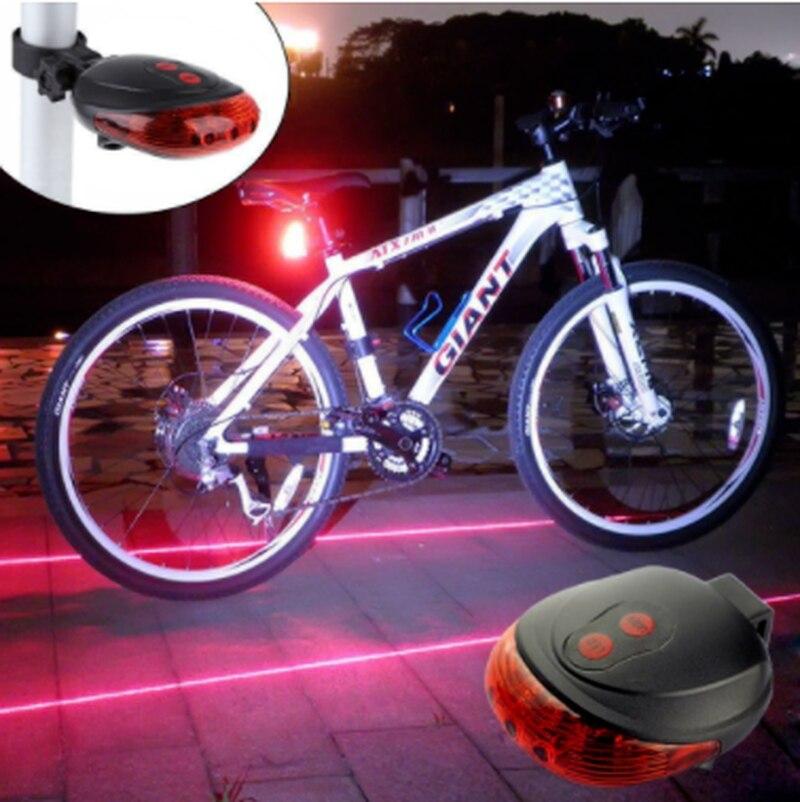 Luces traseras impermeables para bicicleta, luz LED láser, accesorios para bicicleta