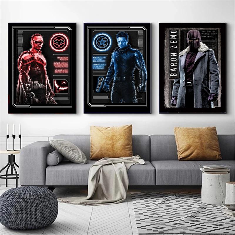 marvel-caliente-tv-americana-serie-falcon-y-posters-de-soldado-y-las-huellas-de-la-pintura-de-la-lona-arte-de-pared-para-sala-de-decoracion-de-casa