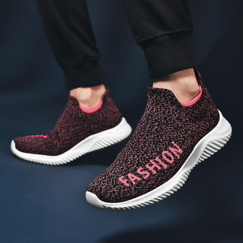Sock Shoes Mesh Sneakers Casual Flat Loafers Breathable Men Sneakers Tenis Masculino Adulto Fashion Slip on Zapatos De Hombre
