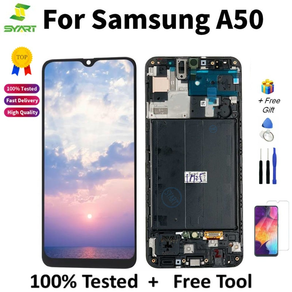 super amoled para samsung galaxy a50 2019 a505f ds a505f a505fd a505a display touch
