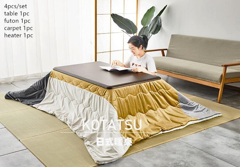 4 قطعة/المجموعة الحديثة الخشب الجدول كوتاتسو مجموعة 1 الجدول 2 فوتون 1 سخان اليابانية نمط غرفة المعيشة الأثاث الجدول مركز الجدول خشبية