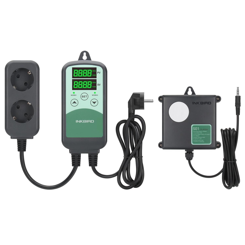 ICC-500T S01 برمجة ثاني أكسيد الكربون أداة التحكم في درجة الحرارة مزودة بمؤقت ندير CO2 الاستشعار عن التهوية في الأماكن المغلقة ومعدات التكييف