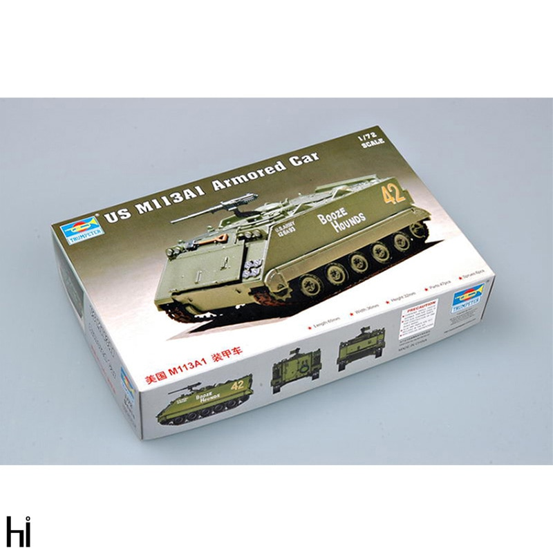 Trumpeter 1/72 07238 UNS M113A1 Gepanzerte Auto Fahrzeug Kunststoff Montage Modell Gebäude Kit