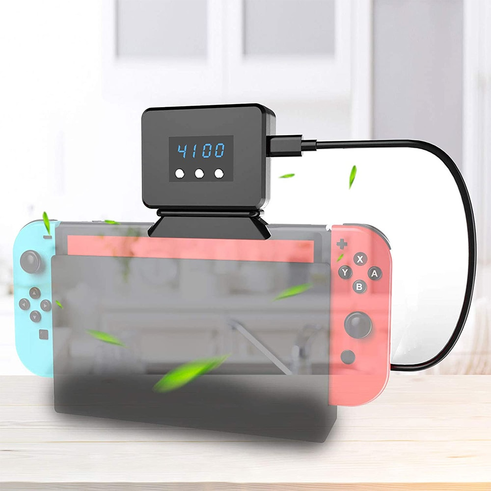Cooling Fan for Nintendo Switch Docking Station LED Display Radiator for NS Switch External Turbo Pumping Cooler Radiator Base