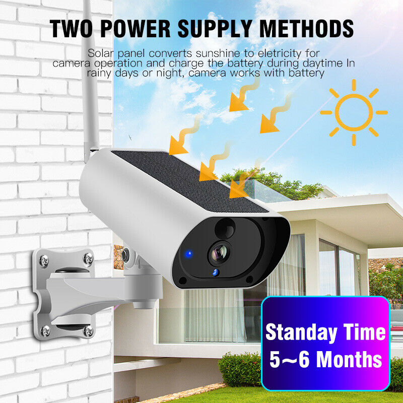 لاسلكي واي فاي كاميرا IP الشمسية 1080P HD شاشة أمن الصوت مقاوم للماء في الهواء الطلق وصول جديد