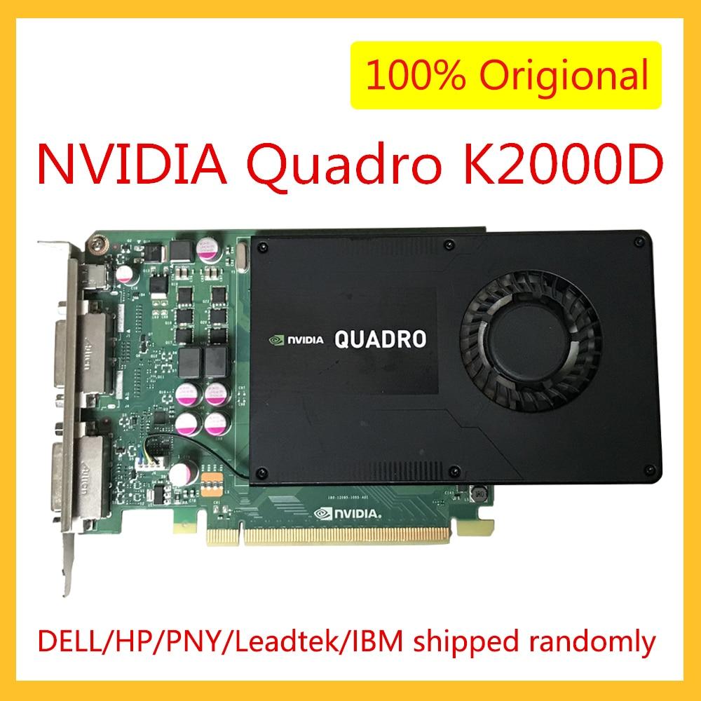 K2000D VCQK2000D-PB 2GB GDDR5 ل نفيديا كوادرو محطة فيديو بطاقة الرسومات ل التصميم الجرافيكي الرسم 3D النمذجة تقديم