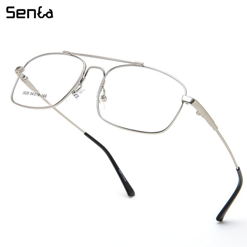 Senta-نظارات مربعة من التيتانيوم للرجال ، بإطار فائق الخفة وقابل للطي ، لقصر النظر ، وصفة طبية ، 2020