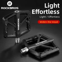 rockbros mountain bike du bearing lock pedal nylon bicycle pedals aluminum alloy widen area ultralight cycling accessories
