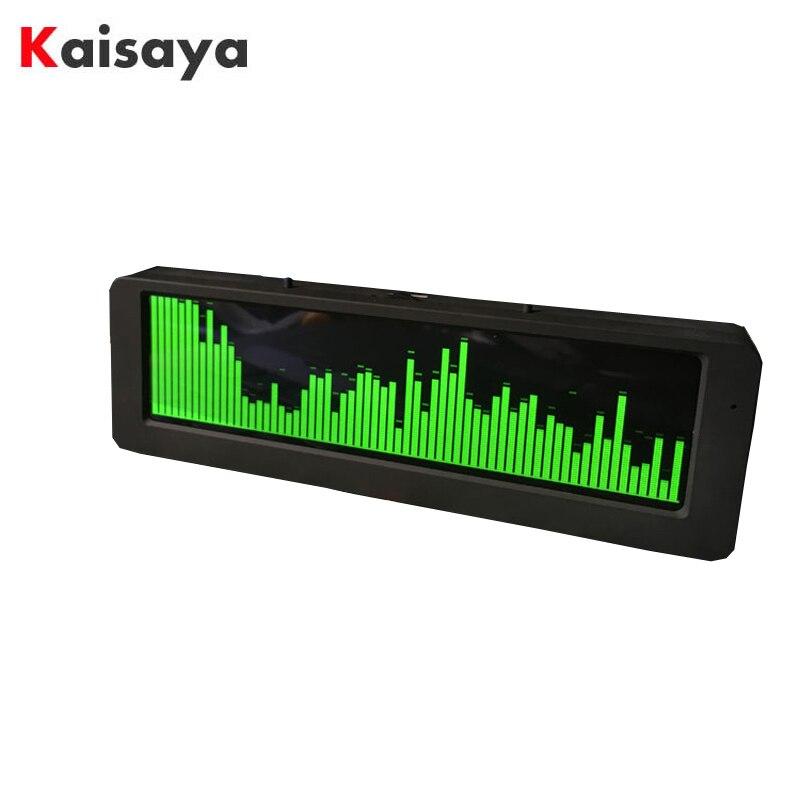 5.5 polegada oled music spectrum display módulo vu medidor de controle áudio do carro profissional alta fidelidade espectro relógio mic preto caso D3-012