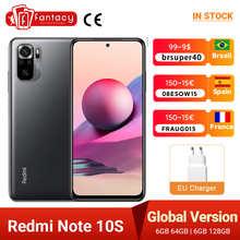 Global Version Xiaomi Redmi Note 10S 6GB 64GB / 6GB 128GB Smartphone 64MP Quad Camera Helio G95 6.43