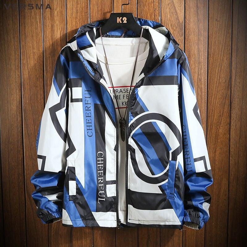 VERSMA japonés Harajuku Ulzzang BF chaqueta de bombardero para hombre chaquetas de otoño Hip Hop de gran tamaño chaqueta de pareja abrigo de hombre Dropshipping