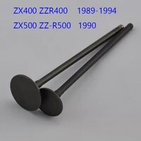 2pc 1 intake1 exhaust motorcycle intake and exhaust valves for kawasaki zx400 zzr400 1989 1994 zx500 zz r500 1990