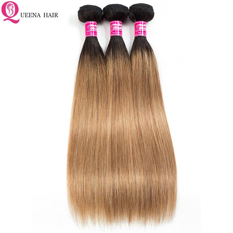 Ombre cabelo reto brasileiro tecer pacotes 1b/27 dois tons cor puro cabelo humano barato ombre 1b/27 cabelo 3 ou 4 pacotes