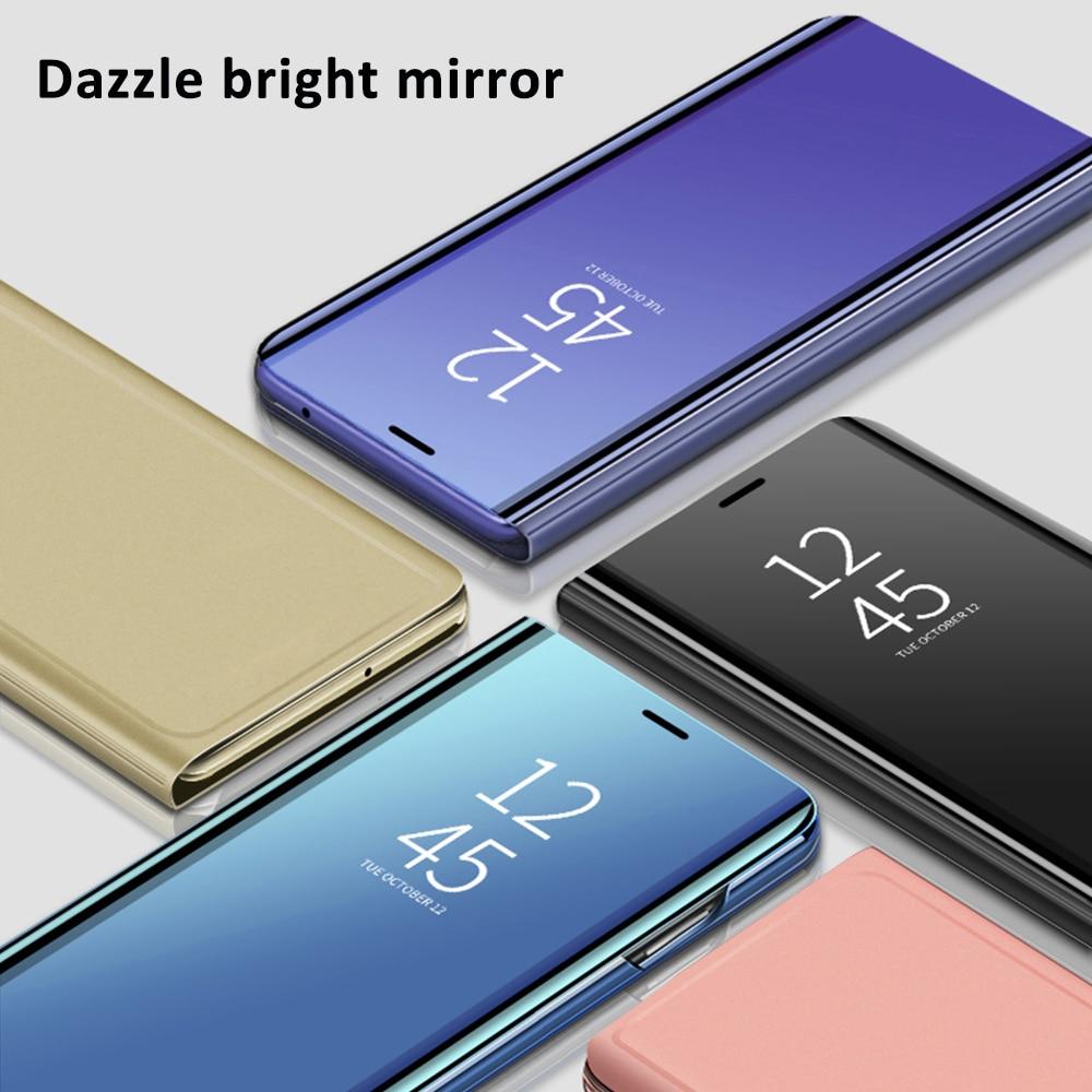 Espejo inteligente caso de tirón para Samsung Galaxy A10 A20 A30 A40 A50 A60 A30S A10S A20S A50S M10 M20 M30 M40 M40S con soporte Funda