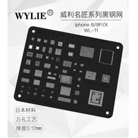 wl 11 wylie bga stencil famous master black color for iphone 88px a11 cpu full ic 0 12 mm