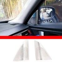 car horn trim for bmw 3 series e90 e91 2005 2012 stainless steel accessories a pillar tweeter frame car decoration