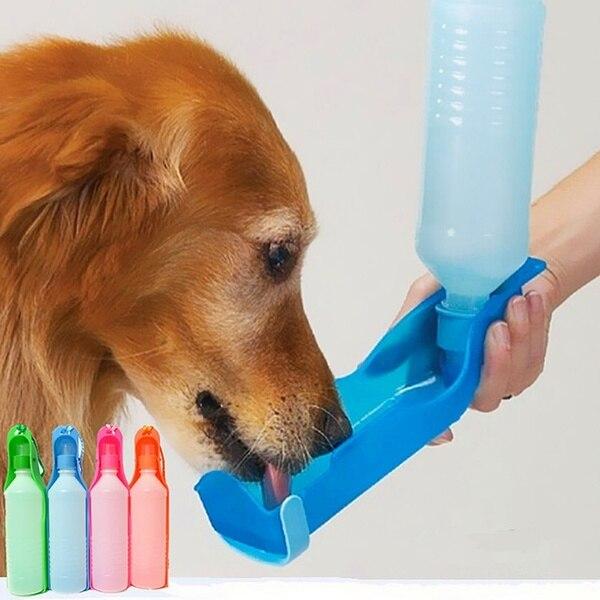 Портативный 500 мл/250 мл ПЭТ складной поилка для животных Собака Кот пьёт миска для домашних животных для путешествий для того чтобы поить Пла...