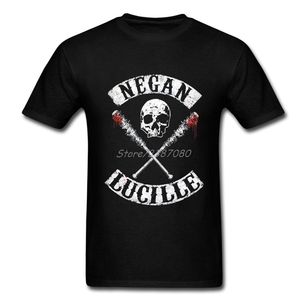 2019 New Negan Lucille T Shirt For Men Cotton Plus Size Short Sleeve The Walking Dead T Shirts