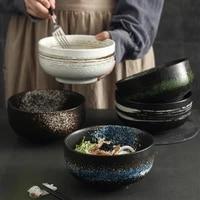 japanese 4 piece ceramic bowl retro round ceramic dinnerware restaurant home kitchen supplies elegant soup bowls home decor