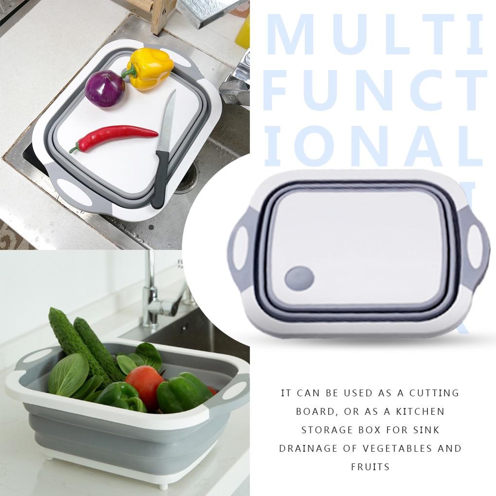 Tabla para picar plegable, verduras y frutas utensilio para lavar, escurridor de...