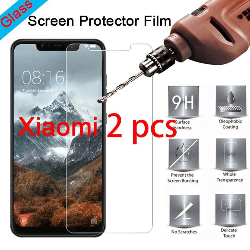 2 uds 9H Protector de pantalla duro para Xiaomi mi 9 SE 8 Pro Lite 6 claro templado vidrio Protector templado para Xiaomi mi 5C 5S Plus5