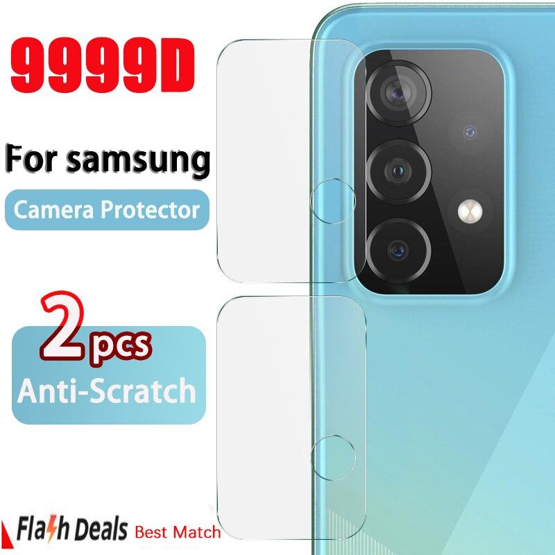 Cámara Protector de pantalla para Samsung Galaxy A51 A50 A71 A52 A41 72 lente película A02S A10 A20 A30 A40 A70 A21S A32 de vidrio templado
