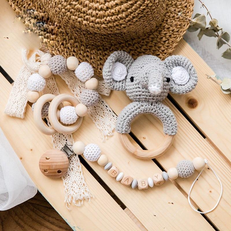 Детская погремушка амигуруми, вязаная крючком, единорог, колокольчик, игрушка Монтессори, мультяшная Развивающая погремушка детская игруш...
