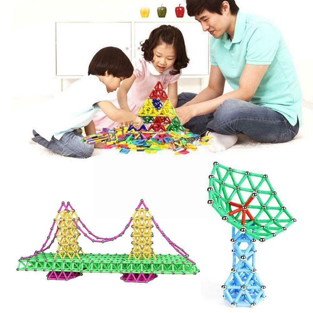 107 шт. магнитные палочки, магнитные строительные блоки, конструкция «сделай сам», магнитные для детей, детская игрушка, набор для строительс...