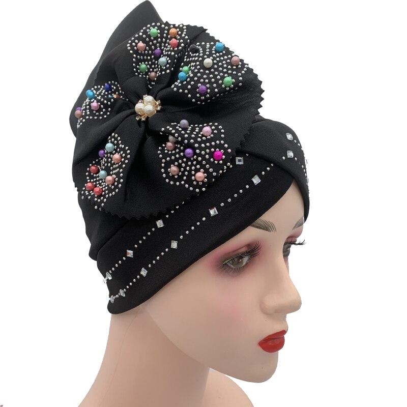 Женский головной убор с бриллиантами, головной убор большого размера, головной убор в мусульманском стиле, головной убор в африканском стил...