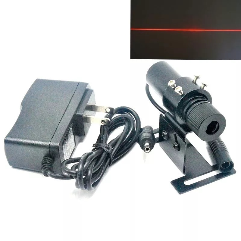 100 мВт 650 нм линия луч красный лазер модуль фокусируемая головка w адаптер 26% локатор 22% 2A 75 мм