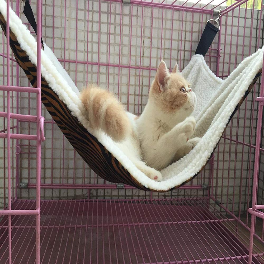 Cama de Mascota para gatos, hamaca de terciopelo con plataforma para gatos, camas ajustables para gatos pequeños