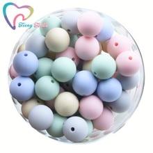 20 PCS Silicone Round 9-15 MM Beads Eco-friendly Sensory Teething Necklace Food Grade Mom Nursing DI