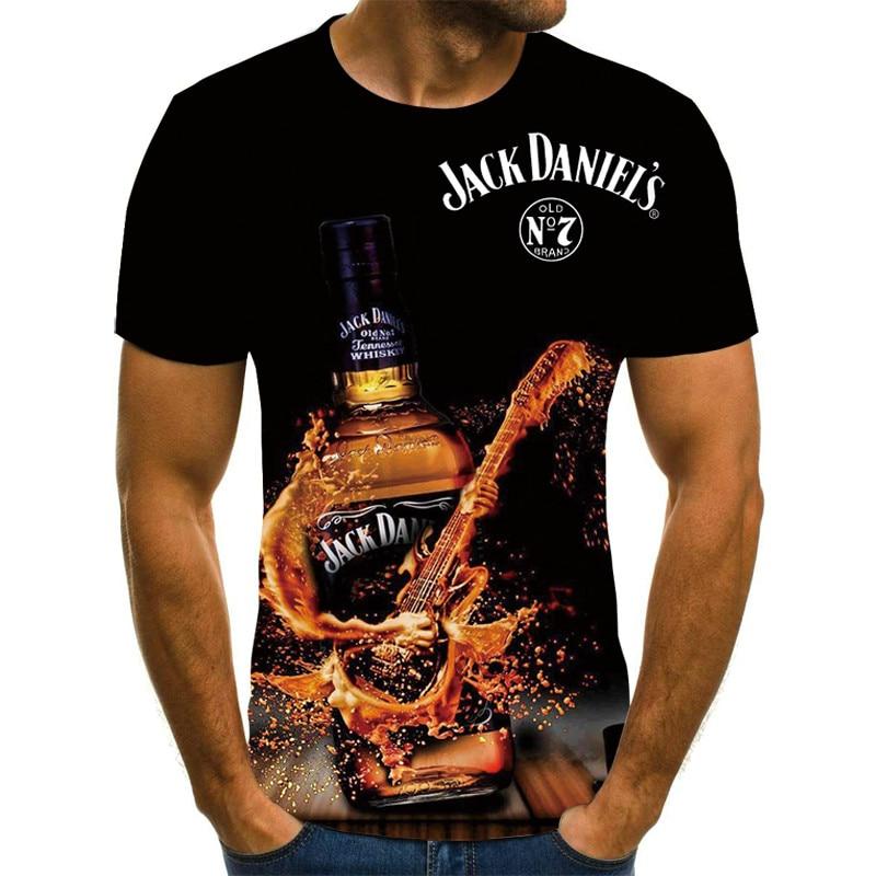 AliExpress - Summer Men's 3D T-shirt Beer Time Short Sleeve O-neck Fashion 3D Printing Funny Casual Top Streetwear T-shirt