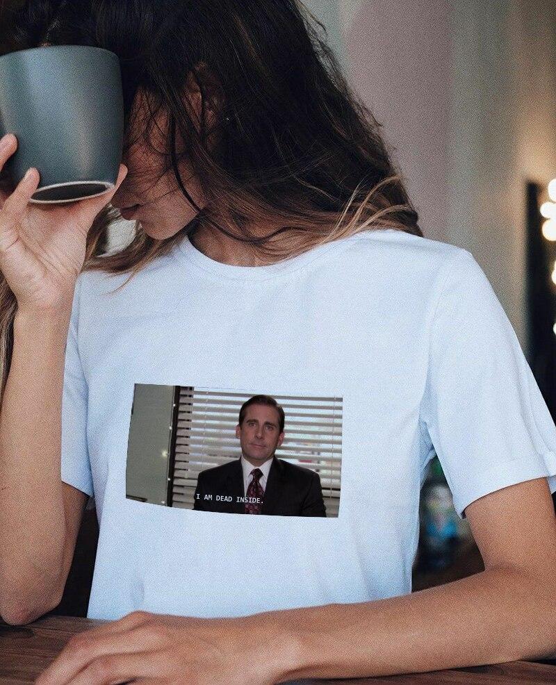 ICH Bin Toten Innen Zitate Lustige T-Shirt frauen Tumblr Grunge Mode Weiß T Sommer Kurzarm Tops