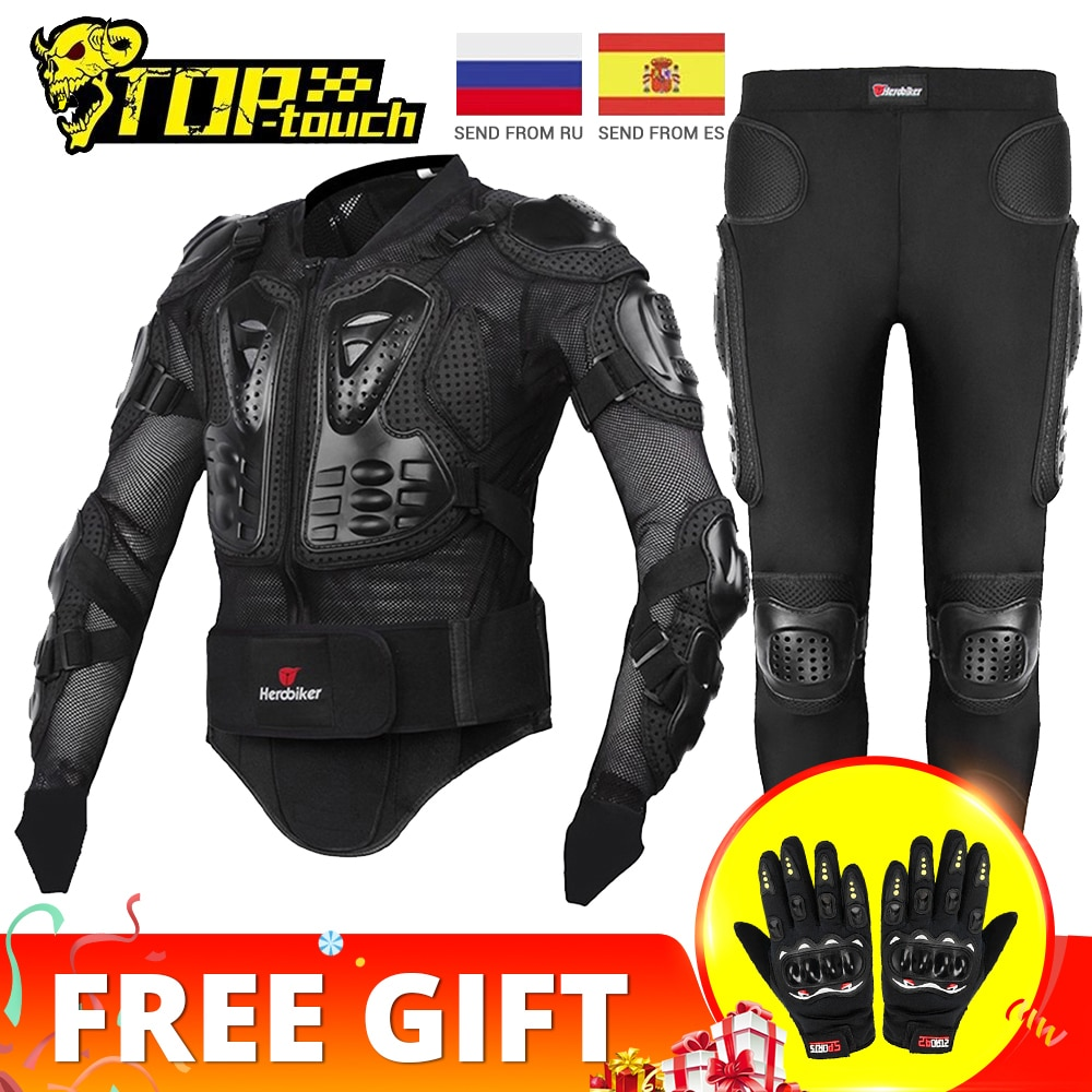 HEROBIKER Motorcycle Jacket Men Full Body Motorcycle Armor Motocross Racing Moto Jacket Riding Motor