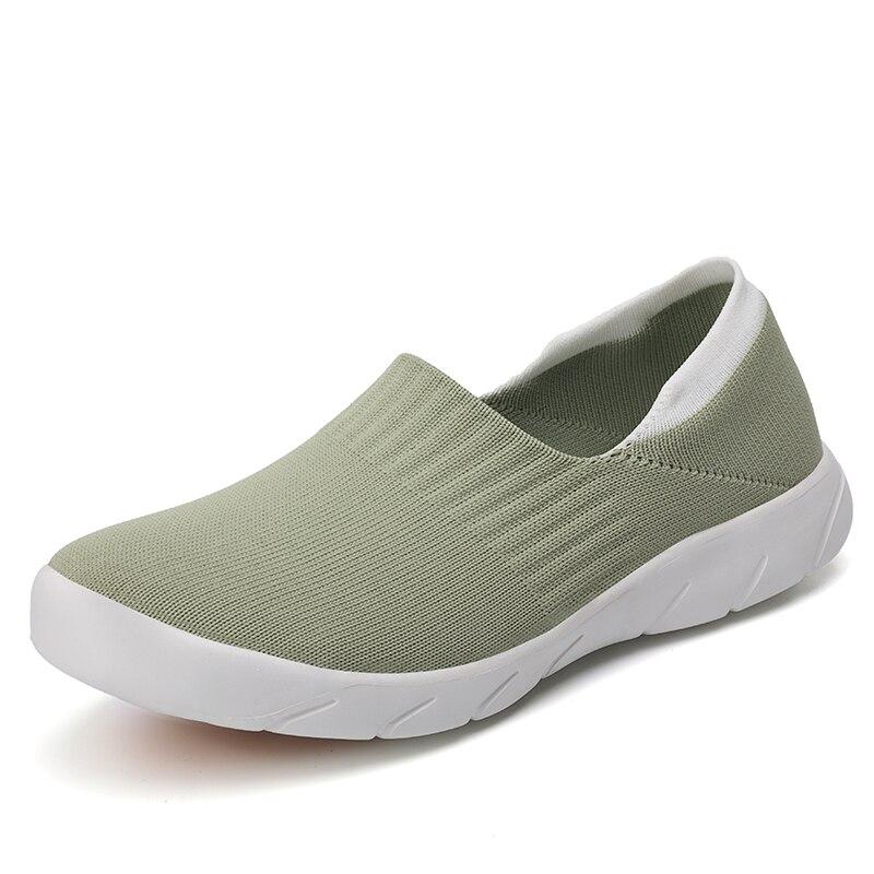 Zapatos para caminar para mujer 2019, Calcetines antideslizantes a la moda, zapatos planos Casuales