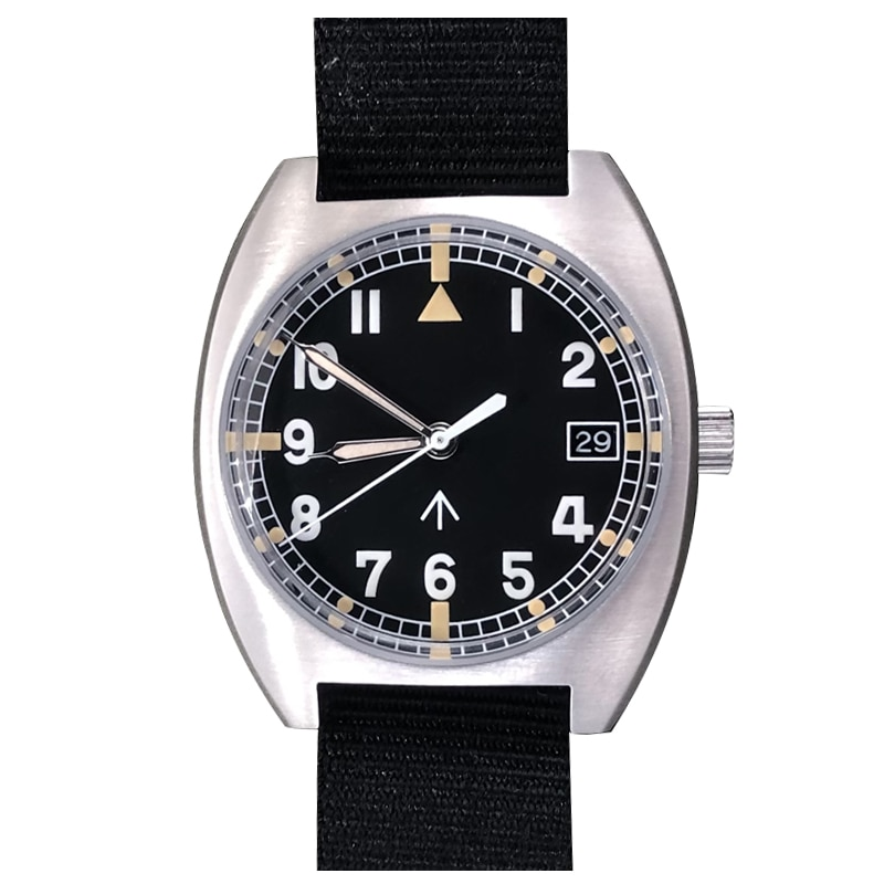 Baltany الرجال الطيار الساعات الذكور التلقائي ساعة اليد الياقوت الغوص 100 متر مقاوم للماء الرياضة BGW-9 مضيئة النايلون sراب NH35