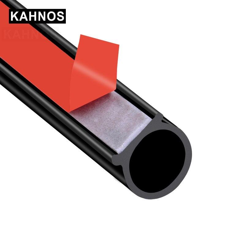 Уплотнительная лента для автомобильных дверей, 4 метра, большой размер D, EPDM, шумоизоляция, защита от пыли, звукоизоляция, резиновое уплотнен...
