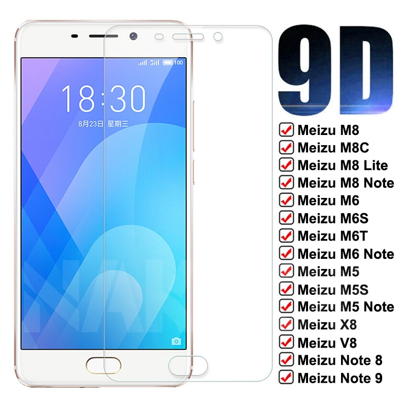 9D Protective Glass For Meizu C9 Pro M8 M6 M5 Note 9 8 Tempered Screen Protector Meizu X8 V8 M8C M6T