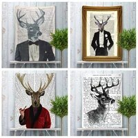 animals deer vintage dictionary wall art tapestry tarot mandala home decor hippies free delivery hanging fabric poster large
