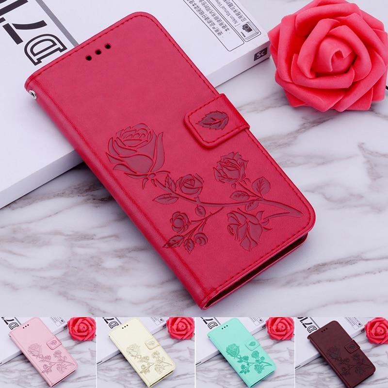 Embossed Flip Wallet Leather Case For Tecno Spark 3 16+1 16+2 TecnoSpark 3 Pro Case Fundas Back Cover Stand Book Case phone case