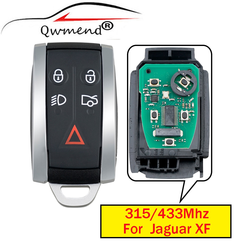 KR55WK49244 5Buttons Car Smart Remote Key for Jaguar XF XFR XK XKR 2009 2010 2011 2012 2013 Car Key 315Mhz/433Mhz