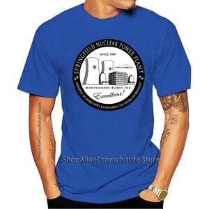 2021 Leisure Fashion T-shirt algodão O pescoço Personalizado Impresso Masculina Springfield Usina Nuclear Feminina