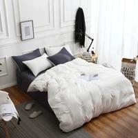 4pcs solid color sheet quilt cover set king size 150x205 summer bedding set soft pillowcase 2pcs double queen quilt covers