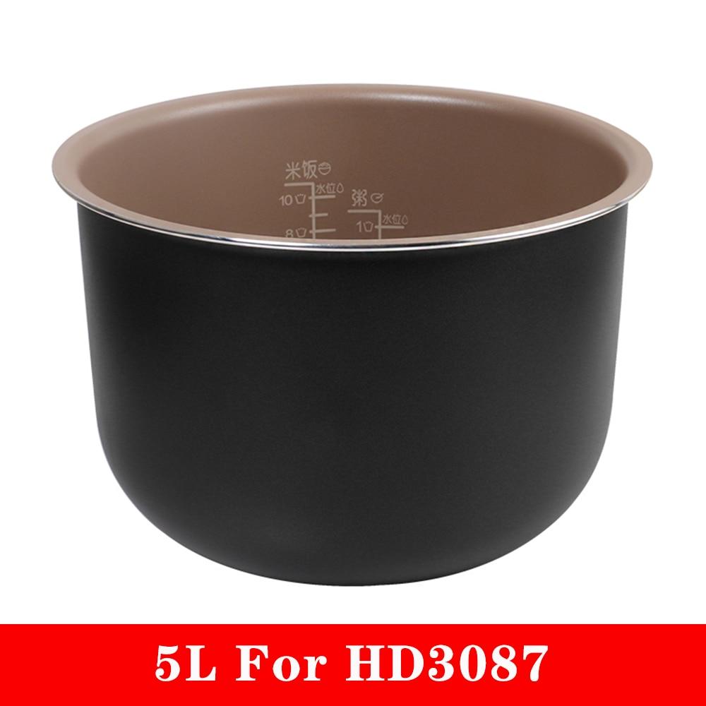 وعاء طهي أرز بديل أصلي سعة 5 لتر ، بطانة غير لاصقة ، ملحقات جهاز طهي الأرز Philips HD3087