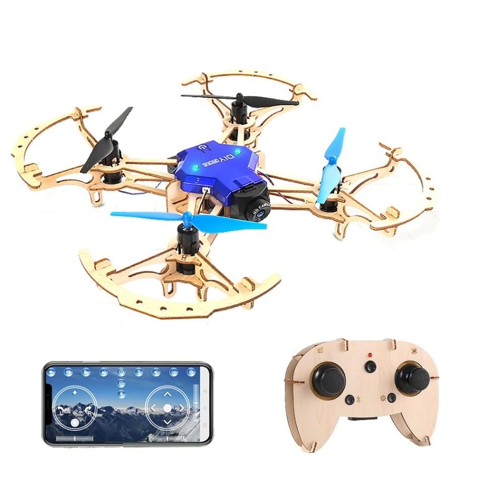 RC drone ZL100 DIY Drones de madera bolsillo de carreras Quadcopter Mini montar 2,4 GHz Helicóptero De control Remoto eachine juguetes para niños