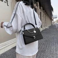 small square bags for women messenger bag 2021 chains girls handbag casual wild lady shoulder bag cross body female bag black