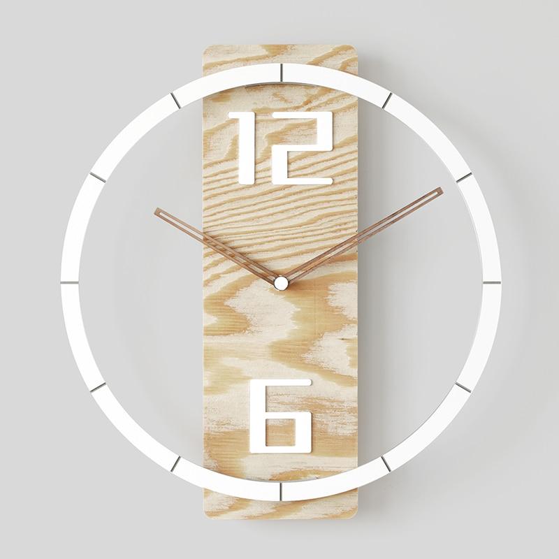 Reloj De Pared nórdico, diseño Moderno, sala De estar De madera Simple,...